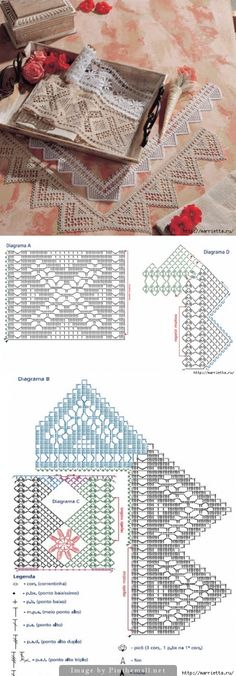 Crochet insertions with edgings to match, including corners ~~ http://www.liveinternet.ru/users/mosja1/post283753484/
