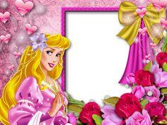 Created in «Webka Photo Frames Princess Aurora Party, Disney Princess Birthday Party, Aurora Disney, Disney Diy, Disney Scrapbook, Scrapbooking, Disney Frames, Flower Graphic Design, Baby Picture Frames