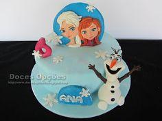 Doces Opções: Bolo de aniversário Frozen