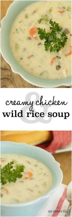Creamy Chicken and Wild Rice Soup - Six Sisters' Stuff | I love warm, delicious soup in the middle of winter – and this wild rice soup is quickly making it's way to the top of the list! With the fresh veggies and creamy base, it will warm you up from the inside out.