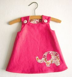 Size 2T-6/Girls Reversible A Line Dress Pattern/ by KokoPattern