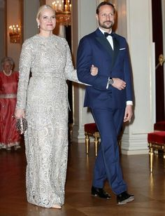 In the evening of February 1, 2018, King Harald V of Norway and Queen Sonja of Norway held a state dinner at the Royal Palace of Oslo in honour of Prince William, Duke of Cambridge and Catherine, Duchess of Cambridge. Crown Prince Haakon, Crown Princess Mette Marit, Princess Astrid, Mrs. Ferner, Princess Martha Louise of Norway and members of government attended the gala dinner.