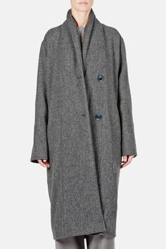 Christophe Lemaire — Kaftan Coat Grey Marl  Wow.  Le sigh.