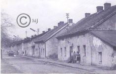 Srokowiec i widok na ulicę Srokowiecką na Georgshutte.Lata 60 XX wieku.( fot.ze zbiorów Henryka Nikisza)