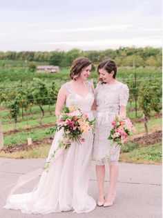 A Vineland Estates Wedding with a bright colour palette and romantic florals. Flowers by Niagara Wedding Florist Threads & Blooms. Church Wedding Flowers, Cheap Wedding Flowers, Vineland Estates, Bridesmaid Dresses, Wedding Dresses, Vineyard Wedding, Palette, Bloom, Wedding Photography