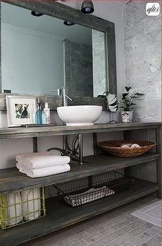 Salvage Savvy: DIY Bathroom Vanity Ideas.