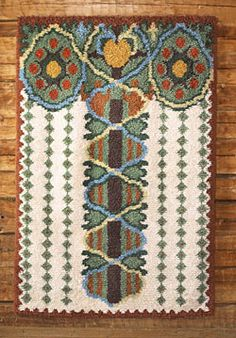 Woolly wall rya by Emil Halonen, Finland, By AnnaQ Rug Hooking Patterns, Textile Patterns, Textiles, Rya Rug, Wool Rug, Scandinavian Embroidery, Hand Hooked Rugs, Art Textile, Floor Rugs