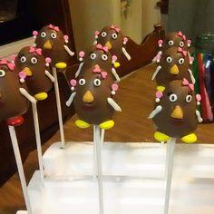 Mrs. Potato head cake pops