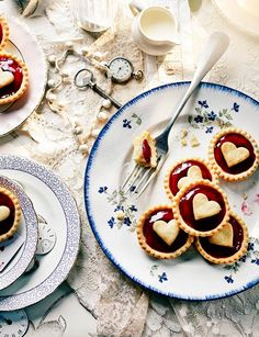 Jam tarts with hearts on  #queensbirthday #streetparty #jamtart