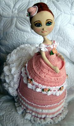 Cloth+&+Crochet+Calendar+Art+Doll+by+clairebearsfolly+on+Etsy,+$235.00