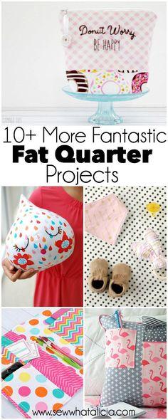 10 More Fantastic Fat Quarter Projects   www.sewwhatalicia.com