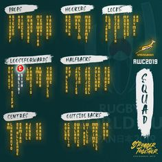 Springbok World Cup Squad announced: Are you ready South Africa?