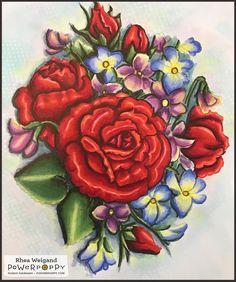 Flower Bomb Digital Stamp Set