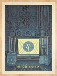 2016 Dave Matthews Band - Holmdel Silkscreen Concert Poster by Methane