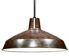 """Don't miss this! -  1 Light Old Bronze Industrial Warehouse Style Pendant - 16"""" Diameter"""