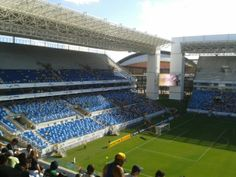 Arena Pantanal is a brand-new sustainable stadium built for the Cup in Cuiabá. Find more best places to watch the World Cup in Brazil: http://pin.it/V6SKWXH