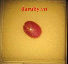 Đá ruby sao DRS007, đá ruby tự nhiên 100%