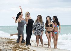 Beach party: The two were joined by their Mob Wives cast mates (L-R) Renee Graziano, Big Ang, and Karen Gravano Carla Facciolo, Marissa Jade, Big Ang, Mob Wives, Great Tv Shows, Reality Tv Shows, Bikini Bodies, Beach Party, Boss Lady