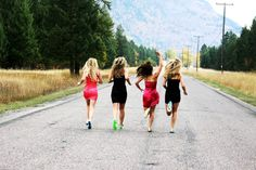 lol love! girls in dresses, but running in their cleats :)  true soccer girls.  I need to do this with my team.
