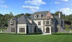 Castle-like Luxury House Plan - 12294JL | Architectural Designs - House Plans