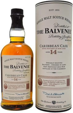 Balvenie 14 Year Old Caribbean Cask Single Malt Whisky Scotch Whiskey, Bourbon Whiskey, Irish Whiskey, Balvenie Whisky, Vodka Day, Whiskey Lullaby, Whisky Shop, Caribbean Rum, Single Malt Whisky