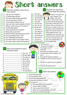 Short answers interactive and downloadable worksheet. You can do the exercises online or download the worksheet as pdf.