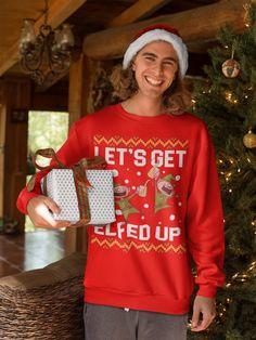 Rockin Around The Christmas Tree Funny Noel Ugly Xmas Sweater Sweatshirt