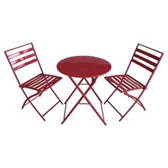 Buy RED MILAN BISTRO SET from our Garden Chairs range - Tesco.com