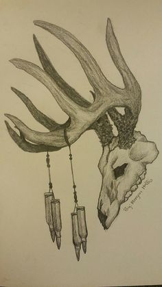 Tattoo maybe…by Morgan Hollis Awesome deer skull sketch.Tattoo maybe…by Morgan Hollis Deer Hunting Tattoos, Hunting Drawings, Deer Skull Tattoos, Antler Tattoos, Deer Tattoo, Deer Skulls, Fox Tattoos, Raven Tattoo, Sleeve Tattoos