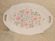 Shabby Cottage Chic Hand Painted Pale Rose and by MacVictorianRose