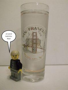 22 karat gold trimmed San Francisco Shot Glass