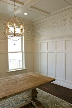 Sorry the posts have been few and far between as we have been in construction mode - but one room is complete! We got the trim work all do...