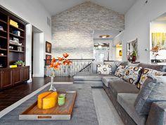 HappyModern.RU | Отделка современной квартиры камнем (50 фото): солидно, стильно и уютно | http://happymodern.ru