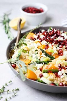 This Butternut Squash Couscous Salad is packed with your favorite fall flavors and makes a delicious lunch or Thanksgiving side dish! Couscous Salad, Pasta Salad, Whole Food Recipes, Dinner Recipes, Healthy Recipes, Lemon Pasta, Vegetarian Main Dishes, Roasted Butternut Squash, Thanksgiving Side Dishes