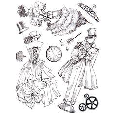 Steampunk paper doll