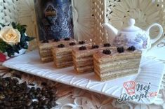 Ladislav řezy - FOTOPOSTUP | NejRecept.cz Hungarian Desserts, Hungarian Recipes, Hungarian Food, Czech Recipes, Deserts, Dairy, Ale, Cooking Recipes, Sweets