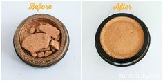 A genius idea from Parlour: how to repair eyeshadow! I am trying this on my broken blush!