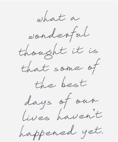 Wonderful thought...