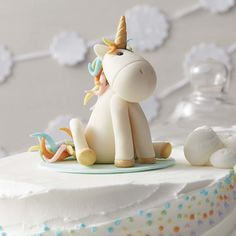 Make all your little one's wishes come true with this Whimsical Unicorn Cake. Topped with a unicorn figurine made of Shape-N-Amaze Edible Dough, this magical cake is great for birthdays and baby showers. With step-by-step instructions on how to make your own unicorn figurine, this Unicorn Cake project is fun for those who are looking for their next baking challenge.