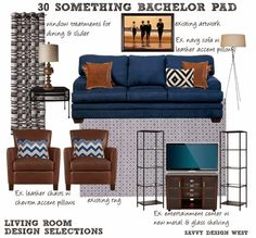 Client Project   30 Something Bachelor Pad   from Living Savvy