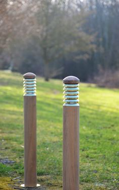 The lovely wooden 'Tectona' teak path light has an elegant and natural look. This smooth bollard has a polished mounting base & six polished brass louvers. Outdoor Path Lighting, Bollard Lighting, Path Lights, Teak Wood, Natural Looks, Polished Brass, Paths, Zen, Nature