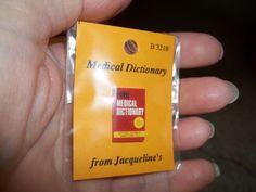 HOME MEDICAL  DICTIONARY  -  JACQUELINE'S MINIATURES