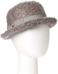 Gray Mohair-Blend Fedora #hat #womens