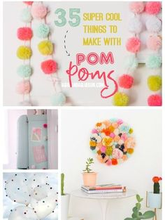 35 super cool Pom Pom Projects
