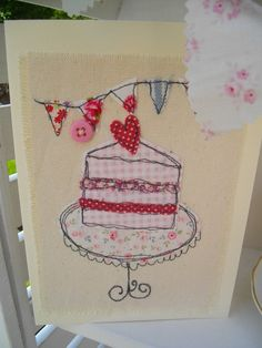 Birthday card Handmade Card Picture card by SewSweetbySuzanne
