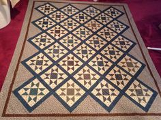 Half square triangle quilt..triangles on a roll just fabulous