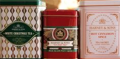 Harney & Sonsの紅茶、缶のデザインが素敵。クリスマスバージョンが2種類あって、どちらも美味。シナモンスパイスも寒い時期にホッとする味。...