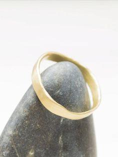 Rustic Wedding Bands, Wedding Rings, Or Rose, Rose Gold, Solid Gold, White Gold, Take Me Up, Asymmetrical Design, Organic Modern