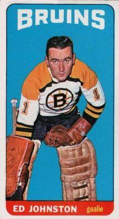 1964 Topps Ed Johnstone autograph Boston Bruins Hockey, Chicago Blackhawks, Hockey Goalie, Hockey Teams, Hockey Cards, Baseball Cards, Bobby Orr, Goalie Mask, Boston Sports