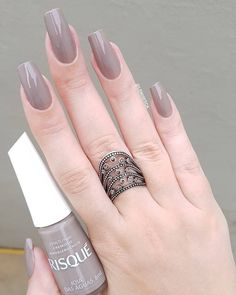 The Best Nail Polish Colors for Fall and Winter 2019 – Page 16 of 63 – Nails Blo… - Best Trend Nails Manicure Colors, Nail Polish Colors, Manicure And Pedicure, Color Nails, Manicure Ideas, Gorgeous Nails, Love Nails, Fun Nails, Stylish Nails